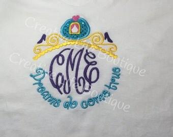 Disney - Cinderella Monogram- Personalized - Adult
