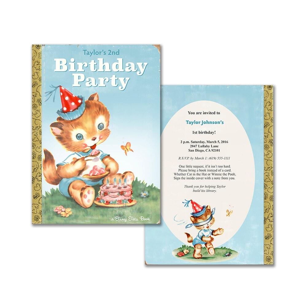 Book Birthday Party Invitation / Printable Storybook Themed