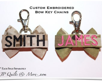 Bow Keychain in Army, Navy, Marines & Air Force