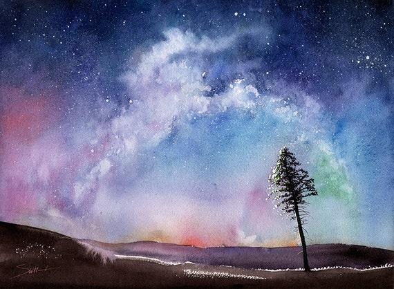 Spray Paint Art Spiral Galaxy
