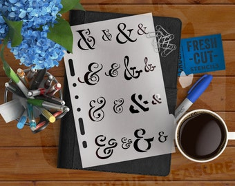 Ampersand Elements Planner Stencil -- A5/Half-Letter Sized Binders