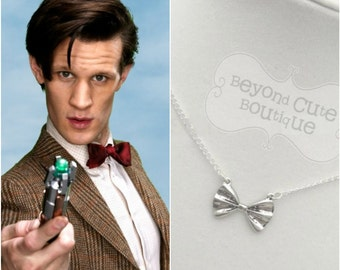 PREORDER DOCTOR WHO Bowtie Necklace // Bowties Are Cool // 11th Doctor // Matt Smith // Sonic Screwdriver // Whovian // Dr. Who // Cosplay