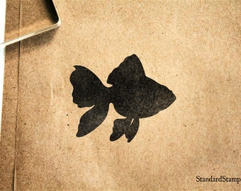 Goldfish Rubber Stamp - 2 x 2 inches