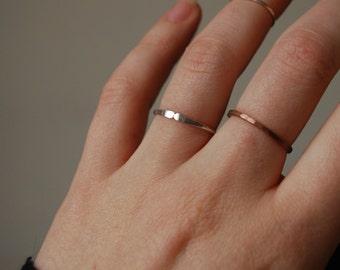 Hammered tribal minimal geometric ring, flat ends, silver, hammered minimal ring, minimal, modern, geometric, tribal ring, silver, handmade