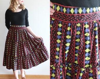 SALE * Coronado Skirt * 1950s Coleman California cotton skirt * Size 8