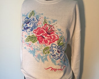 Magnificent Mom Sweater - Size Medium Large - Mother Sweater - Vintage Sweater - Crew Neck Sweater - Vintage NWT - Mothers Day Gift