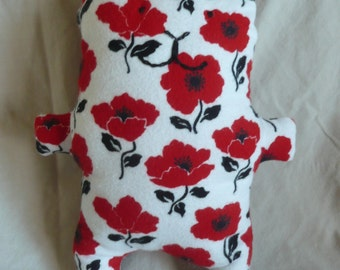 Quinn's Cuddle Friends- red flower kitty