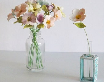 Ceramic flower and test tube vase