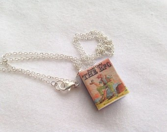 Handmade The BFG Big Friendly Giant Miniature Book Charm Necklace // Roald Dahl  // Book Lover Gifts