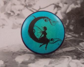 "1-1/2"" Fairy Dresser Knobs - Wispy Fairy Moon Dreamer II"