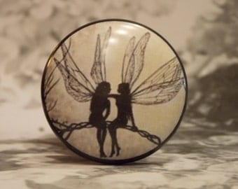 "1-1/2"" Fairy Dresser Knobs - Fairy BFF"