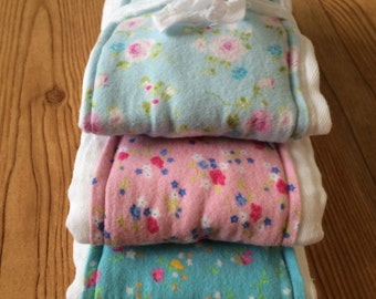 Set of 3 Burp Cloths- Shabby Chic Floral
