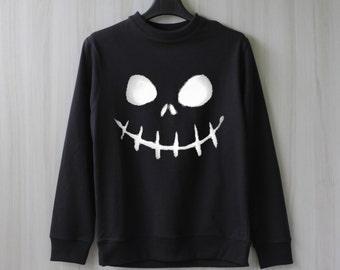 Jack O'Lantern Sweatshirt Sweater Shirt – Size XS S M L XL
