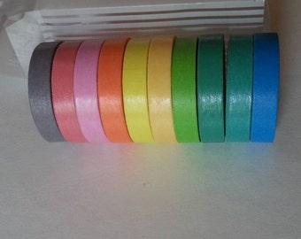 Set of 10 colored Washi Tape