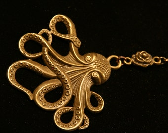 Steampunk Octopus Necklase