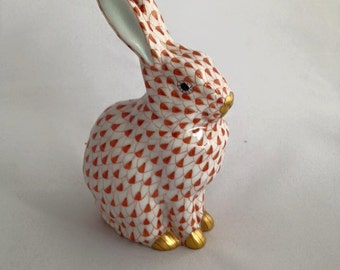 Rabbit by Herend in the Fishnet Pattern