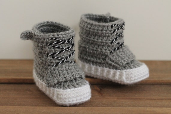 Crochet Yeezy : Yeezy Baby Crochet PATTERN ONLY Yeezy 750 boost for baby boys booties ...