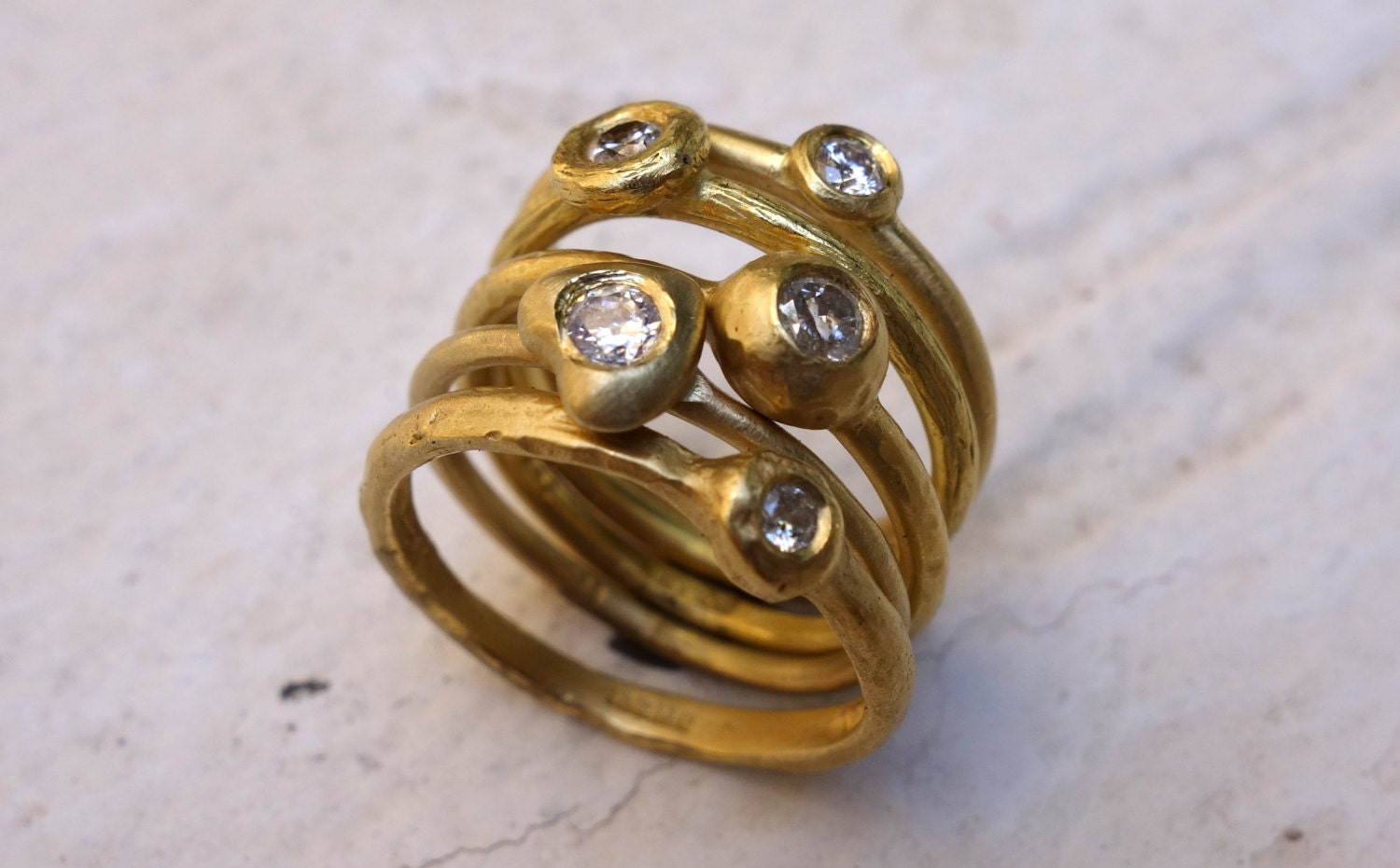 unique stacking rings gold rings unique by jkashi1889