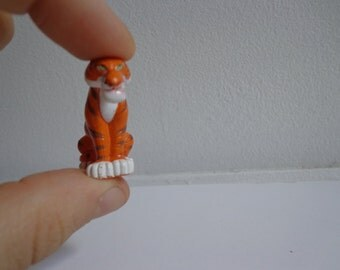 90s Collectible Disney Aladdin Mini Rajah Tiger Toy Cake Topper, Vinyl Deco Kids Meal Fast Food Style Collection