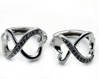 Infinity Love Cubic Zirconia  Infinity Earrings Sterling Silver Earrings Jewelry, X392