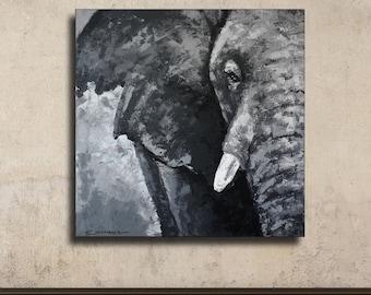 Elephant Painting,67x67 cm