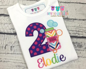 Baby Girl Bubbles Birthday Outfit - 1st Birthday Bubbles Birthday Outfit - 1st Birthday Shirt - Bubbles Party Shirt