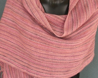 Handwoven  shawl in hand spun, hand dyed wool
