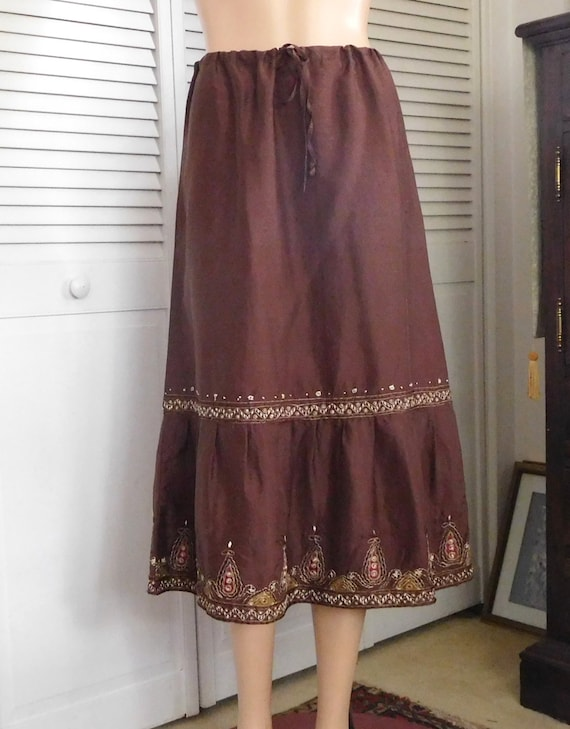 Silk Broomstick Skirt 74