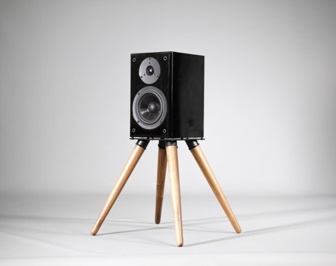 Audio speaker stand , iron and wood (2 units)