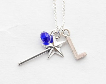 Magic Wand Necklace Silver Wand Necklace Personalized Magic Wand Necklace Silver Necklace Fantasy Necklace Magic Wand Jewelry Pendant Gift