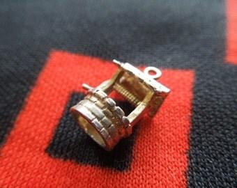 Sterling Wishing Well Charm Vintage Wishing Well Charm Sterling Silver Charm for Bracelet from Charmhuntress 03355