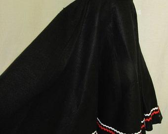 Square Dance Skirt Felt Swing Skirt Felt Skirt 1950s Skirt Rockabilly Skirt