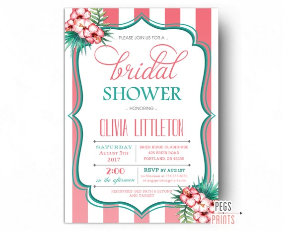 Tropical bridal shower invitation luau bridal shower invitation il570xn filmwisefo