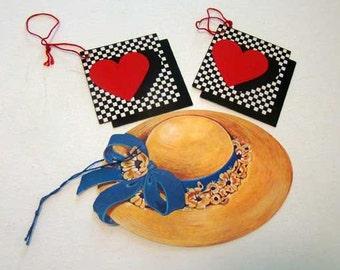 Die cut gift tags, Vintage gift tags, Valentine's Day gift tags, Mother's Day gift tags, gift tags