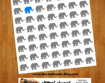 Elephant Planner Stickers, 56, Elephant Stickers, Elephant Sticker Set, Elephant Envelope Seals, Elephant Envelope Stickers, Elephant Decals