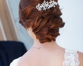 Wedding hair comb, bridal comb, bridal crystal comb, rhinestone hair comb, wedding comb, bridal hair accessories