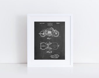 Motorcycle Saddle Patent Poster, Motorcycle Poster, Teen Room Ideas, Guys Gift, Vintage Motorcycle, PP0893