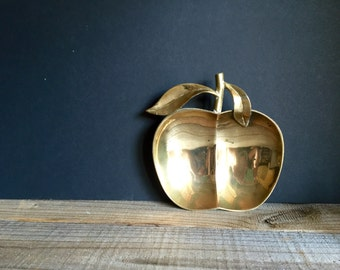 Brass Apple Dish