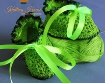 Baby Shoes Baby booties Openwork boots crochet from mercerized cotton yarn green color for girls boy children Handmade Shoes crochet Shoes