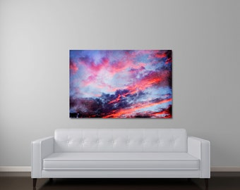 Sunset Canvas Art, Large Canvas Art, Sunset Photography, Large Abstract Canvas Wall Art, Once Upon A Time
