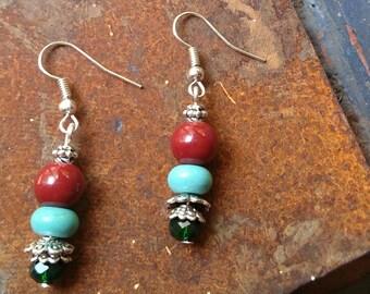 Southwestern vibe dangle earrings