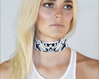 Damselfish Choker: Inspired by underwater creatures created for the bold- Handmade- Authentic design by Alicia/Ellafly