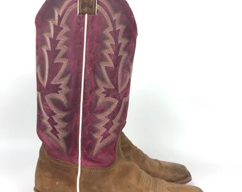 Size 8 - JUSTIN Leather Cowboy Boots