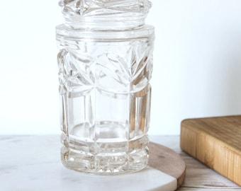 1950's Pressed Glass Lided Jar