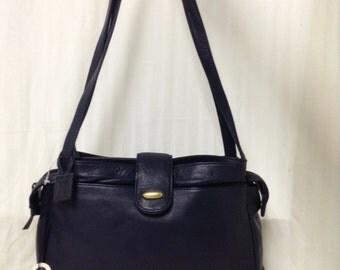 Giani Bernini leather purse,bag, Vintage Unused, Purse ,Black Leather, Shoulder Bag