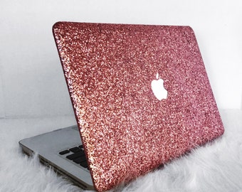 Glitter Macbook Case-Pink