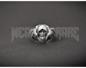 Norse Odin Viking Ring Scandinavian Norse Jewelry Raven Wolf ring