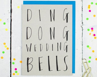 Ding Dong Wedding Bells Greetings Card