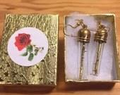 Golden Thorn Branch Earrings