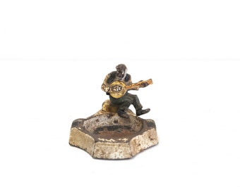 African American Banjo Player Ashtray